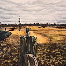 Meet Me At The Fence Post Painting By Alana Judah