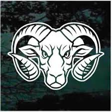Tough Ram Head Car Window Decals Stickers Decal Junky