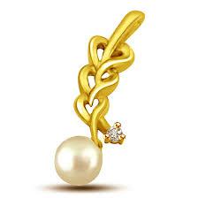 cts heart shape diamond pearl pendants