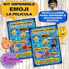 Kit Imprimible Emoji Movie La Pelicula Personalizado 3 200 En