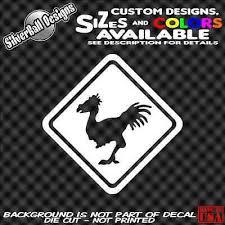 Chocobo Crossing Custom Vinyl Sticker Truck Car Window Ps4 Xbox Final Fantasy Ebay