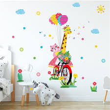 Coloured Balloon Star Cartoon Giant Deer Animal Wall Sticker Decoration Sale Price Reviews Gearbest