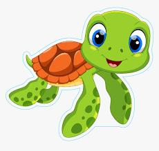 Cute Sea Turtle Cartoon Sticker - Cartoon Baby Sea Turtle, HD Png ...