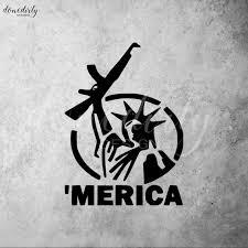 Decals Stickers Merica Usa Decals Truck Decals Gun Etsy