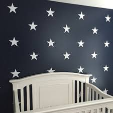 White Vinyl Star Decals Star Wall Decals Kids Room Wall Etsy