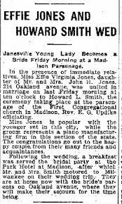 Effie Jones and Howard Smith Wed - Newspapers.com