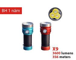 Đèn pin Amutorch X9 LED 3x XM-L2, độ sáng 3600 Lm, 356m sạc USB-C Bán đèn  pin siêu sáng, đèn chuyên dụng chất lượng cao