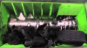 single shaft tire shredder