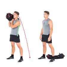 sandbag exercise lift and drop