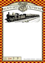 Free Printable Harry Potter Hogwarts Invitation Template