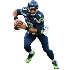 Russell Wilson Seattle Seahawks Fathead Action Life Size Removable Wall Decal
