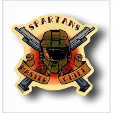 Halo 3 Spartans Master Chief Sticker