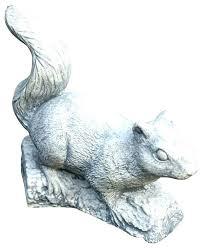 image 0 squirrel garden statue concrete