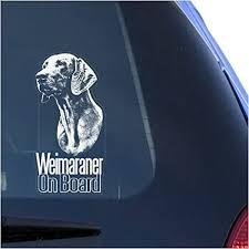 Amazon Com Weimaraner Clear Vinyl Decal Sticker For Window Vorstehhund Weim Dog Sign Art Print Arts Crafts Sewing