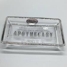 bella lux apothecary glass soap dish