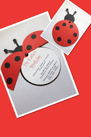 Ladybug Personalized Invitation By Simply Fab Chic Tarjetas De