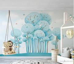 North European Forest Rabbit Bird Kids Bedroom Home Wall Decor Wall Mural For Living Room Wall Paper Mural 3d Wallpapers Custom Free High Res Wallpaper Free High Res Wallpapers From Tongxunbei66 17 61