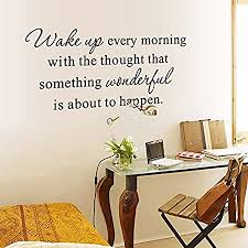 Baby Nursery Decor Wall Decor Nursery Decor English Letters Wake Up Every Morning Wall Decal Home Sticker Pvc Murals Vinyl Paper House Decoration Wallpaper Living Room Bedroom Kitchen Art Picture Diy For
