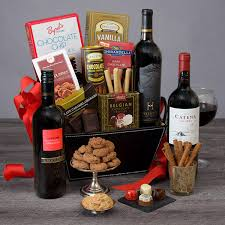 red wine dark chocolate gift basket