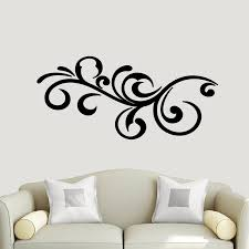 Vinyl Bedroom Sticker Decor Elegant Accent Scroll Wall Decal Wall Accents