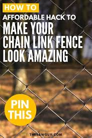 Affordable Hack To Make Your Chain Link Fence Look Amazing The Saw Guy Painted Chain Link Fence Chain Link Fence Outdoor Diy Projects