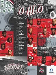 schedule posters ohio state buckeyes