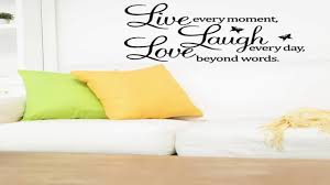 Meco Vinyl Decal Live Every Moment Laugh Every Day Love Beyond Words Wall Q Youtube