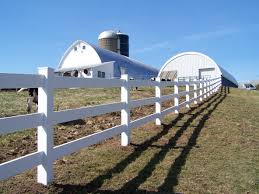 Installing 3 Rail Vinyl Fencing At A Farm In Waterville Ny