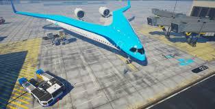 flying v airplane design promises fuel