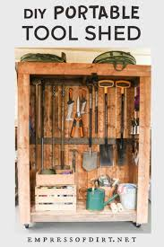 Diy Portable Garden Tool Shed On Wheels Empress Of Dirt
