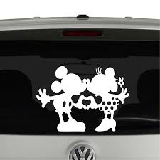 Mickey And Minnie Mouse Heart Hands Nose Kissing Vinyl Decal Sticker Car Window Cosmic Frogs Vinyl