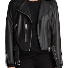 allsaints leather jacket on wanelo