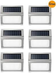 Solar Floor Wall Lights 6 Pack Elelink Waterproof Stainless Steel Led Solar Powered Lamp Outdoor Lighting For Step Path Patio Deck Garden Fence Post Amazon Com