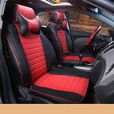 trd vios red car seats cat cover