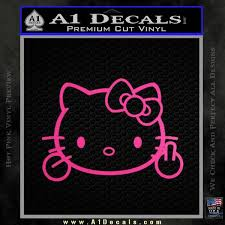 Hello Kitty The Finger D2 Flippy Decal Sticker A1 Decals