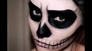 easy skull makeup halloween