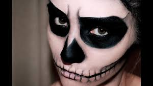 easy skull makeup halloween