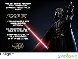 20 Star Wars Darth Vader Birthday Party Invitations Ebay Cumple