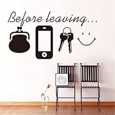 Wall Stickers Before Leaving Reminder Bedroom Living Room Etsy