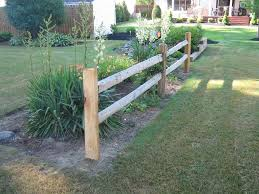 Split Rail Sadler Fence And Staining Rustic Fence Front Yard Fence Fence Landscaping
