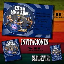 Kit Imprimible Clash Royal Cumpleanos Bautismo Candy