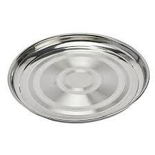 round serving tray swirl design