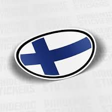 Finland Flag Vinyl Decal Sticker Car Bumper Adhesive Europe Helsinki Ebay