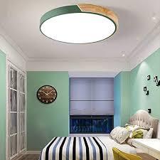 Litfad Ceiling Light 12 Macaron Modern Acrylic Round Flush Mount Led Ceiling Lamp In White Light For Kids Bedroom Living Room Restaurant Green Amazon Com