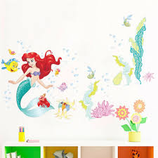 The Little Mermaid Wall Stickers For Kids Rooms Home Decoration Diy 3d Window Ebay