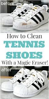 clean tennis shoes with a magic eraser