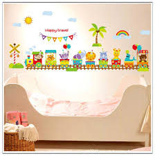 Cartoon Animal Train Baby Room Wall Stickers For Kids Room Boy Bedroom Wall Decals Poster 60x90cm Cp0418 Stickers Wall Decor Stickers Wall Decoration From Gandolfi 12 87 Dhgate Com
