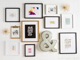 how to create an art gallery wall photos