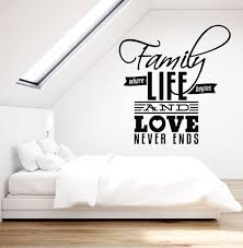 Vinyl Wall Decal Family Love Quote Words Room Art Bedroom Decor Sticke Wallstickers4you