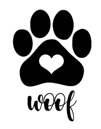 Woof Paw Print Decal Treat Jar Decal Dog Decal Gifts For The Home Vinyl Decal By Britedesignsstudio On Paw Print Decal Puppy Paw Prints Dog Paw Print